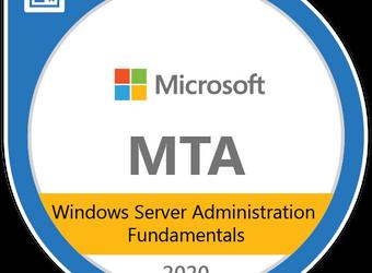 MTA 98-365 Windows Server Administration Fundamentals