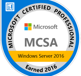 MCSA-Identity with Windows Server 2016 – Exam 70-742